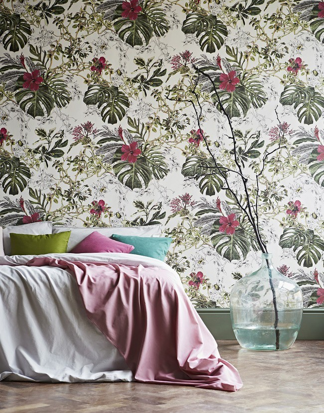 Classic Seasons Summer Tropical Bloom Wallpaper