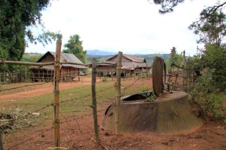 Torreta de tanque en Laos