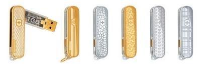Memoria USB con diamantes y oro
