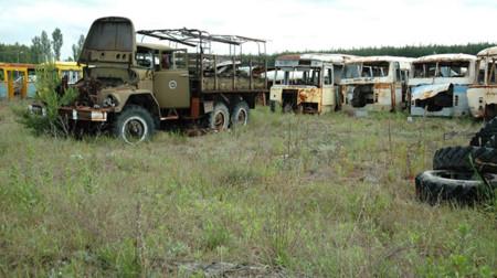 Chernobyl y los vehículos radioactivos que allí quedaron olvidados