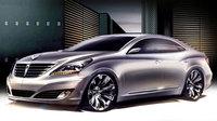Hyundai Equus, primero bocetos de la berlina de representación coreana