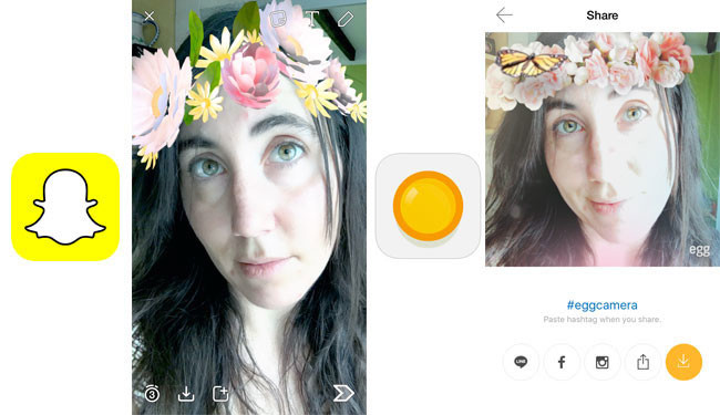 Egg vs Snapchat