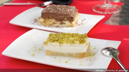 restaurante beirut king - tarta pistacho y tarta charlotte