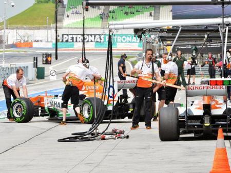 Force India en desacuerdo con los nuevos Pirelli