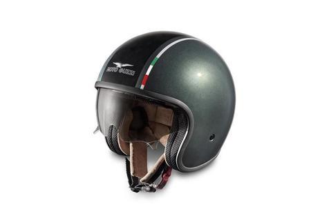Casco Moto Guzzi Stone 1921, jet a la italiana para motos italianas