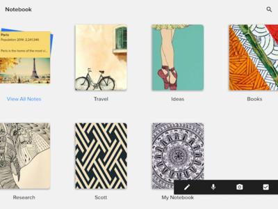 Zoho Notebook quiere ser el sustituto natural de Evernote en tu iPhone