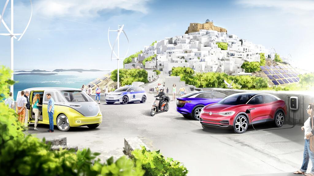 Volkswagen y SEAT quieren convertir la idílica isla griega de Astipalea en el paraíso de los coches eléctricos
