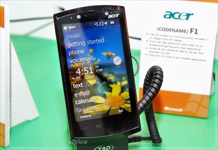 Acer F1, con Windows Mobile 6.5