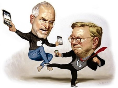 Steve Jobs vs Eric Schmidt kung-fu