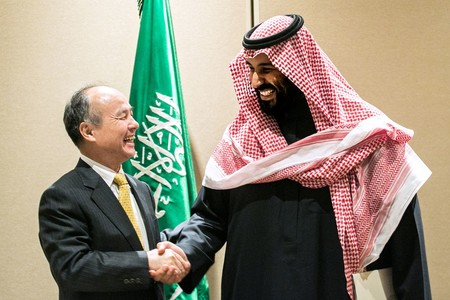 Masayoshi Son And Mohammed Bin Salman