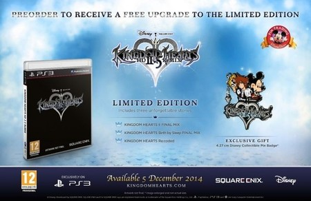 La edición limitada de Kingdom Hearts HD 2.5 ReMIX vendrá con un pin de Sora y Mickey Mouse