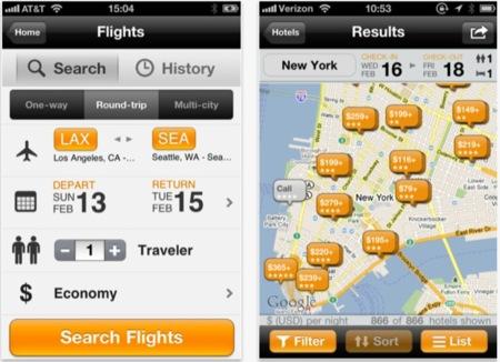 KAYAK Explore, consulta de forma rápida hoteles y vuelos