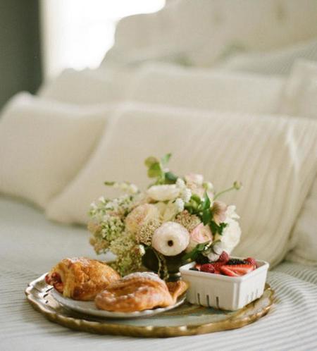 un desayuno en la cama