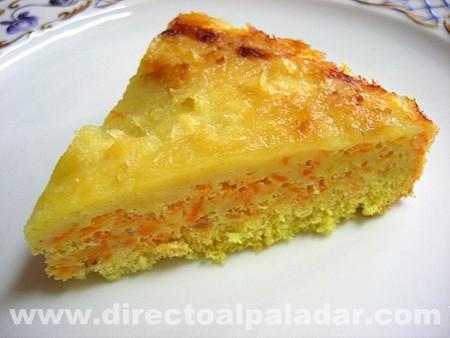 Tarta especiada de zanahoria y manzana. Receta