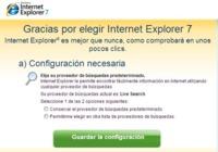 Elimina la página de configuración inicial de Internet Explorer 7