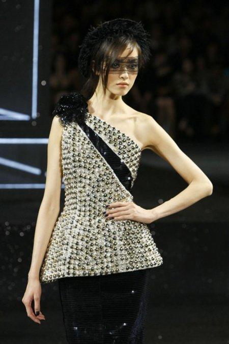 Asimétrico Chanel Alta Costura