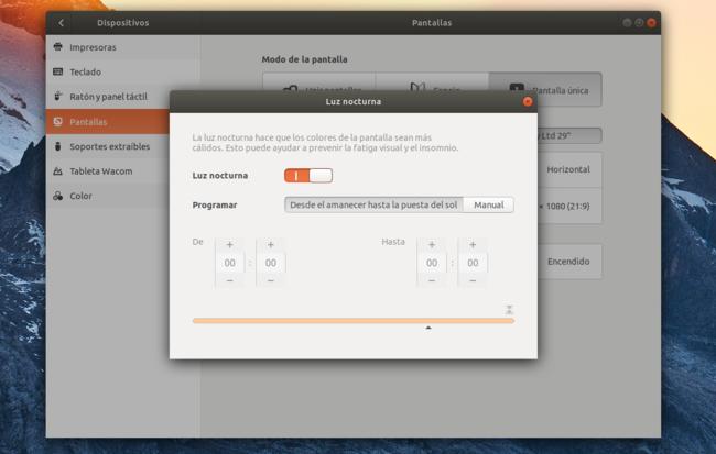 Luz Nocturna Ubuntu 17(diecisiete) 10