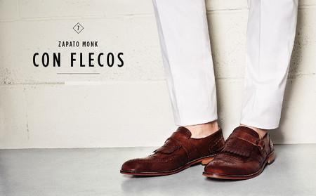 zapato monk con flecos