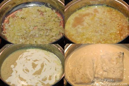 Merluza en salsa de cava y nata. Pasos