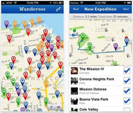 Aplicaciones viajeras: Wanderous