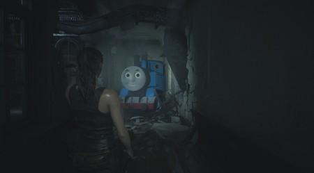 """Tyrant resulta """"más amigable"""" en Resident Evil 2 con este mod para PC que le convierte en Thomas the Tank Engine"""