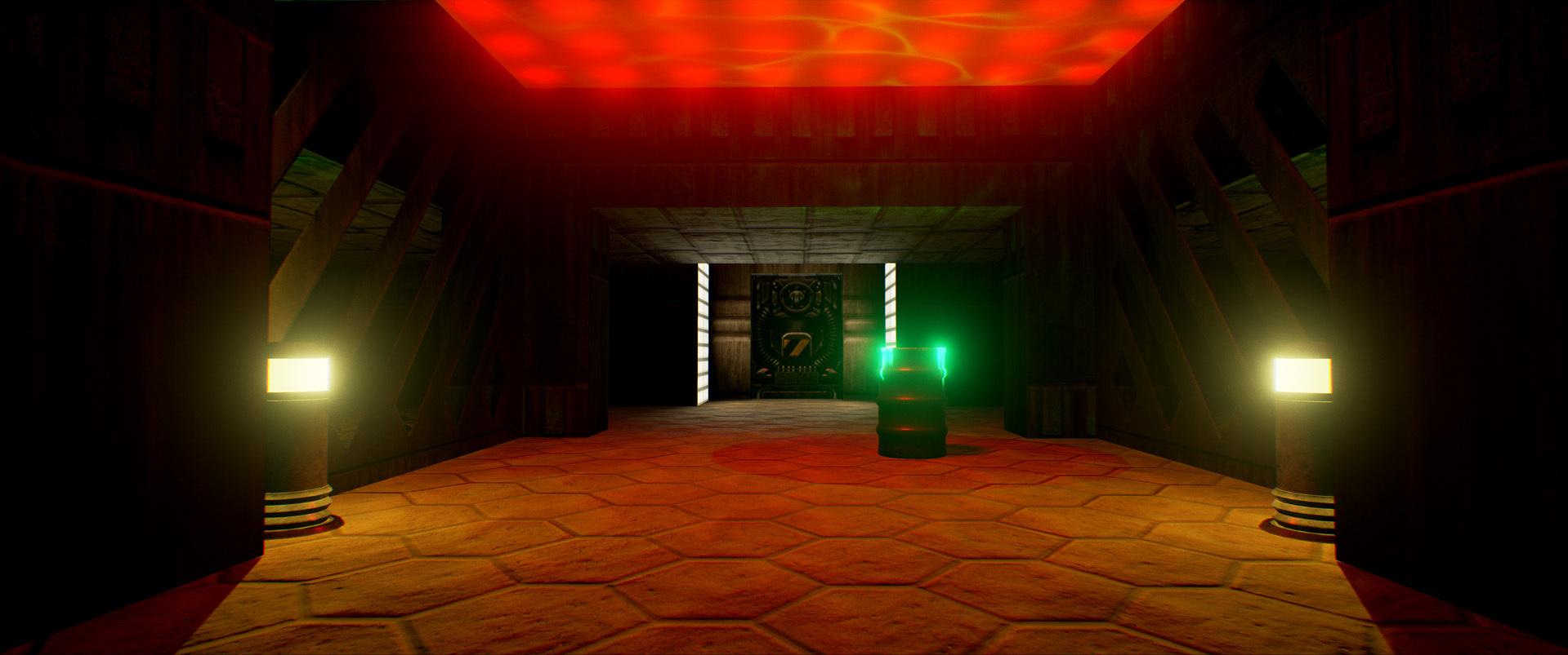 Foto de Nivel E1M1 de Doom en Unreal Engine (8/13)