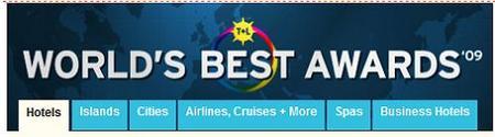 Y los ganadores de los premios de Travel + Leisure son...