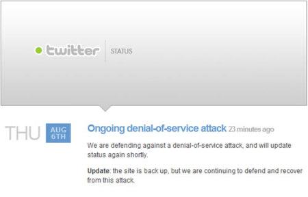 Twitter está sufriendo un ataque de denegación de servicio
