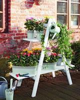 Cómo hacer un soporte en escalera para el jardín paso a paso