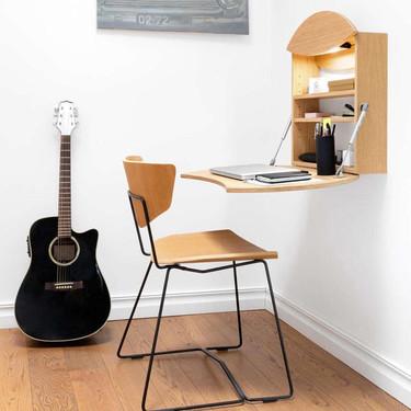 Radius, un escritorio de pared perfecto para pequeños espacios muy funcional y totalmente encantador
