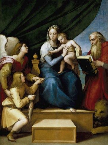 Virgen con el Niño- Rafael en el Prado