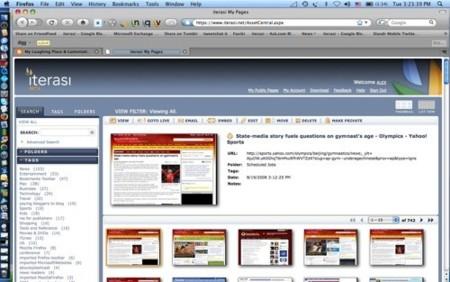 iterasi, almacena páginas web
