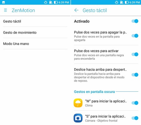 Asus Zenfone 3 Zoom Software Gestos