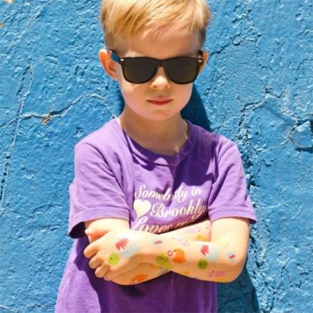 Tatuajes monstruosos para peques y adultos peterpanescos