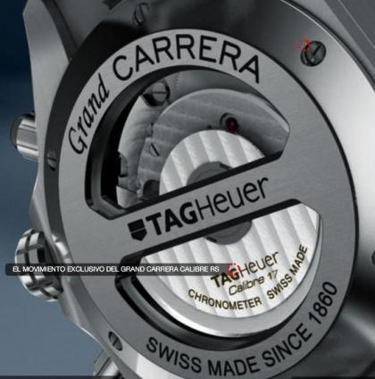 Tag Heuer Grand Carrera calibre RS: características y acabados