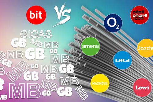 Comparativa nuevas tarifas Vodafone bit frente O2, Pepephone, Amena, Lowi y Digi