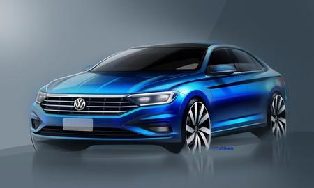 ¡Tres nuevos bocetos! El Volkswagen Jetta 2019 ahora también nos muestra su interior