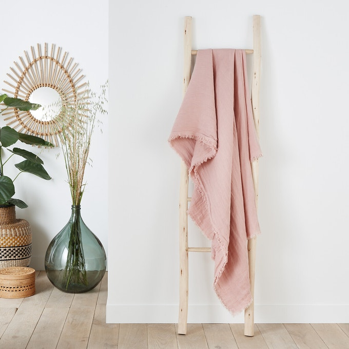 Plaid de lino lavado Linange de La Redoute