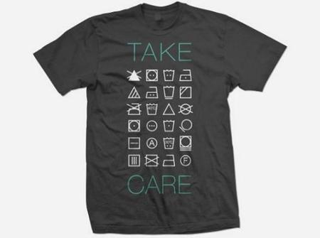 Camiseta con consejos de lavado