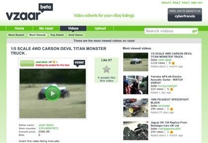 Vzaar, alojamiento de vídeos para los listados de ofertas de eBay