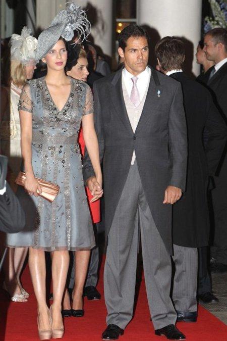 Luis Alfonso de Borbón y su esposa Margarita, la única representación española
