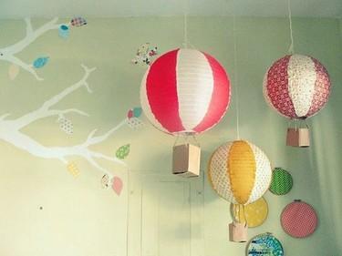 Hazlo tú mismo, globos vintage en los dormitorios infantiles