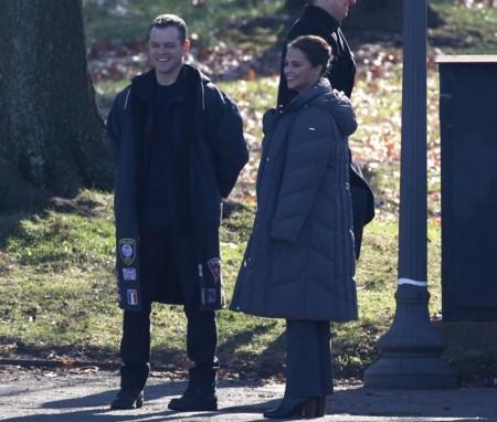 Matt Damon y Alicia Vikander en el rodaje de Jason Bourne