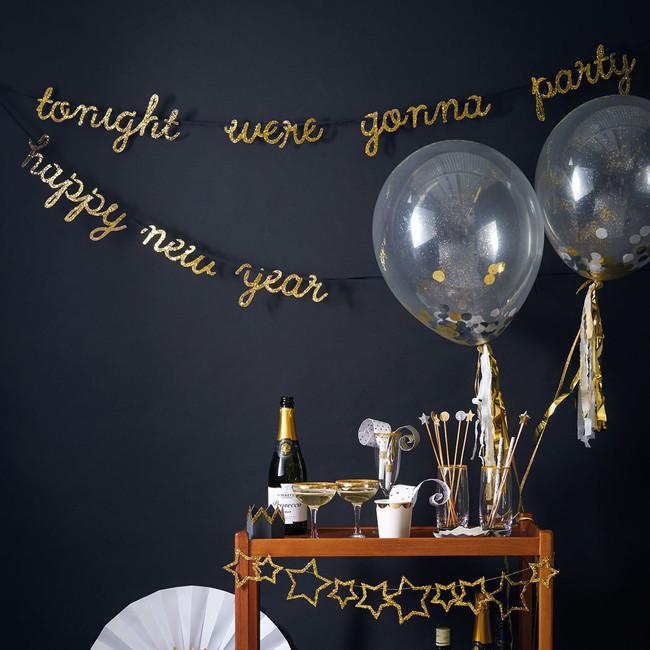 Gold Confetti Balloon Kit