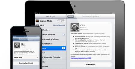 iOS 6 actualización