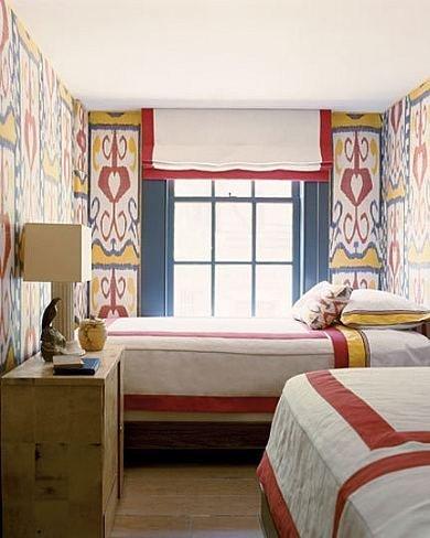Dormitorio del apartamento de Nueva York.