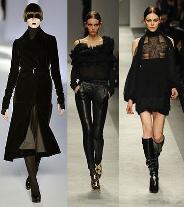Tendencias otoño / invierno 2008 / 2009: look gótico