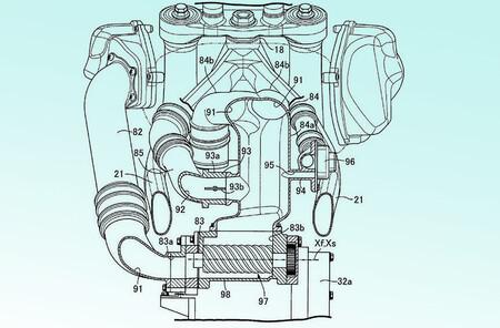 Honda Africa Twin Sobrealimentada Patente 2020 1