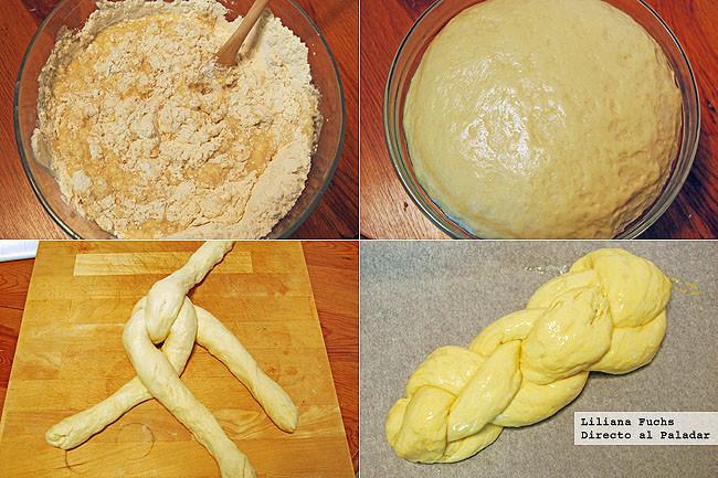 Receta de Zopf, trenza suiza de pan de leche Pasos