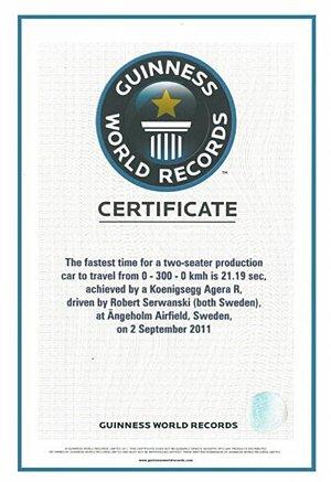 Koenigsegg Agera R Récord Guinness